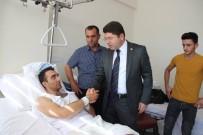 YILMAZ TUNÇ - Milletvekili Tunç, Yaralanan Askerleri Hastanede Ziyaret Etti