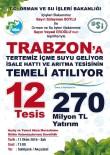 Trabzon'da 270 Milyon TL'lik Yatırım Bedelli 12 Tesisin Temeli Ve Açılışı Gerçekleştirilecek