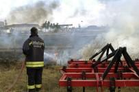 SİGARA İZMARİTİ - Benzinliğe Yaklaşan Alevler Korku Dolu Anlar Yaşattı