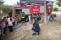 YANGIN TÜPÜ - Anaokulu Öğrencilerinden Deprem Ve Yangın Tatbikatı