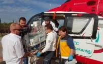 AMBULANS HELİKOPTER - 7.5 Aylık Doğan Kalp Hastası 1 Günlük Bebeğin Yardımına Ambulans Helikopter Yetişti