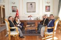 MEHMET CEYLAN - Çorlu Gazeteciler Derneği'nden Tekirdağ Valisi Ceylan'a Ziyaret