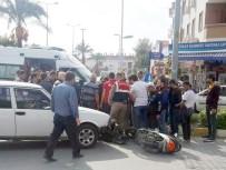 KONAKLı - Otomobilin Çarptığı Motosikletli Ölümden Döndü