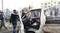 AZEZ - DEAŞ Tarafından Suriye'nin Azez Kentinde Bombalı Araçla İntihar Saldırısı Düzenlendi