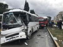 TRAFİK MÜDÜRLÜĞÜ - Kamyon Otobüse Çarptı Açıklaması 28 Yaralı !