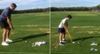 GOLF - Rvp bu kez oğluyla golf sahasında döktürdü
