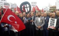 GAZİ YAKINLARI - Şehit Ve Gazi Yakınları Lüksemburg'u Protesto Etti