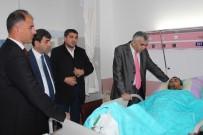MUSTAFA YıLMAZ - İş Kazası Geçiren Madenci 'Geçmiş Olsun' Ziyareti