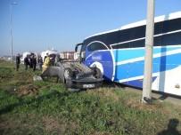 MEHMET MARAŞLı - Bandırma'da Trafik Kazası Açıklaması 2 Yaralı