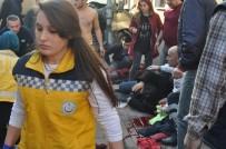 MEHMET DEMIR - İki Kişinin Ağır Yaralandığı Minibüslerin Çarpışma Anı Kamerada