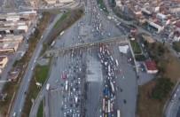 ULAŞTIRMA DENİZCİLİK VE HABERLEŞME BAKANI - Mahmutbey Gişelerdeki Trafik Çilesi Havadan Görüntülendi