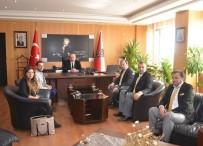 EMNIYET MÜDÜRLERI KARARNAMESI - Çorlu Gazeteciler Derneği'nden İl Emniyet Müdürü Aydın'a Ziyaret