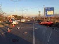 İZZET BAYSAL DEVLET HASTANESI - Bolu'da Otomobil Takla Attı Açıklaması 3 Yaralı