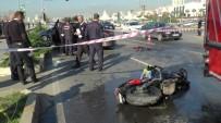 SAHİL YOLU - Motosiklet, Hatalı Dönüş Yapan Otomobile Çarptı Açıklaması 1 Ölü, 3 Yaralı