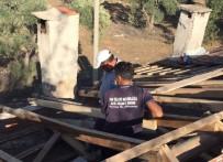 HASAR TESPİT - Gazinin Uçan Çatısı Onarılıyor