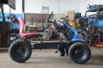 YARıMCA - Avrupa'ya kızdı, pedallı ATV üretti!