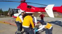 AMBULANS HELİKOPTER - Yaşlı Kadının Yardımına Ambulans Helikopter Yetişti