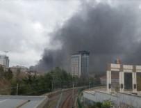 YANGıN YERI - İstanbul'da büyük yangın