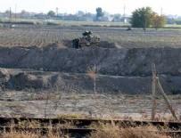 ZIRHLI ARAÇLAR - O ilçede sınıra duvar örme çalışmaları başladı