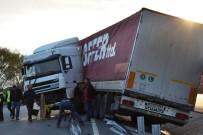 ROMANYA - Biga'da Tır Kaza Yaptı; 1 Yaralı