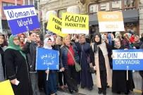 KADINA YÖNELİK ŞİDDETLE MÜCADELE - AK Partili Kadınlar Kadına Şiddete Karşı Yürüdü
