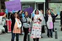 ŞİDDET MAĞDURU KADINLAR - Kadına Şiddete Makyajlı Protesto