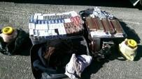 Yolcu Otobüsünde Kaçak Sigara Ve Çay Ele Geçirildi