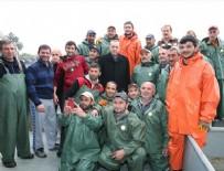 GıRGıR - Cumhurbaşkanı Erdoğan, balıkçılarla ava çıktı