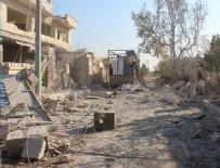 HAVA SALDIRISI - Halep'e hava saldırısı