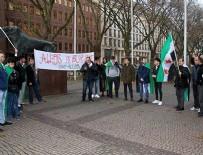 İSLAMIYET - Halep'e yönelik hava saldırılarına Almanya'da protesto
