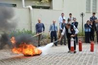 YANGIN TATBİKATI - Keme Belediye Personeline Yangın Eğitimi