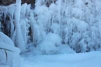 EMEKLİ ÖĞRETMEN - Oltu'da Dereler Buz Tuttu