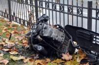OKMEYDANı - Şişli'deki Kazada Motoru Sökülen Aracın Hız İbresi Takılı Kaldı