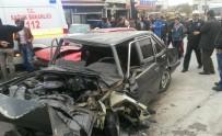 3 araç birbirine girdi: 1 ölü, 3 yaralı