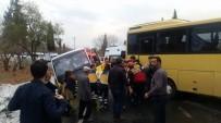 SERVİS OTOBÜSÜ - Aydın Güne Trafik Kazaları İle Uyandı