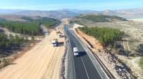 GÜZERGAH - Beyşehir-Konya Karayolu Duble Yol Çalışmaları Havadan Görüntülendi