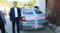 KARADERE - Burhaniye'de Gelin Arabasının Arkasındaki Yazı İlgi Çekti