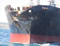 ÇANAKKALE BOĞAZı - Çanakkale Boğazı'nda petrol tankerleri çarpıştı