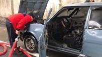 KERVAN - Düzce'de Seyir Halindeki Otomobil Yandı