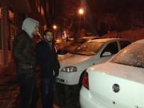 TRAFİK POLİSİ - Tekirdağ'da Kar Yağışı Başladı