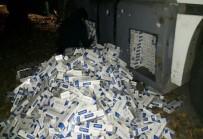 YAKIT DEPOSU - Yakıt Deposuna Gizli 25 Bin 930 Paket Kaçak Sigara Yakalandı