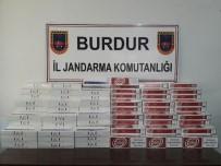 Burdur'da Yolcu Otobüsünde 940 Paket Kaçak Sigara Ele Geçirildi