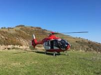 AMBULANS HELİKOPTER - Traktör Kazasında Yaralanan Vatandaşın Yardımına Ambulans Helikopter Yetişti