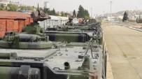 BARıŞ GÜCÜ - Sınıra Sevk Edilen Askeri Araçlar Gaziantep'te