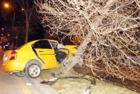 ERTUĞRUL GAZI - Ticari Taksi Ağaca Çarptı Açıklaması 2 Yaralı