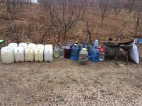 KAÇAK İÇKİ - Amasya'da 285 Litre Kaçak İçki Ele Geçirildi