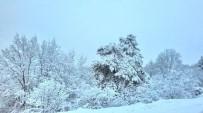 KAPAKLı - Bilecik'in Beyaza Bürünürken Yer Yer Kar Kalınlığı 25 Santimetreyi Buldu