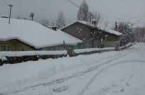 BİTLİS - Bitlis'te Yarım Metreye Kar Yağdı