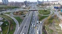ÜST GEÇİT - İBB'nin Yol Çalışması Nedeniyle Kilitlenen Trafik Havadan Görüntülendi