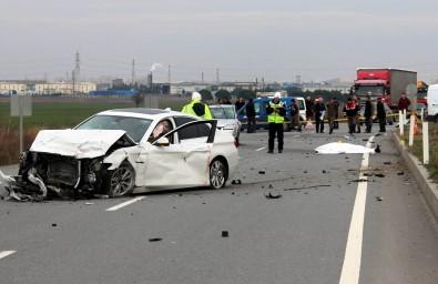 Lüleburgaz'da iki otomobil çarpıştı: 2 ölü, 2 yaralı